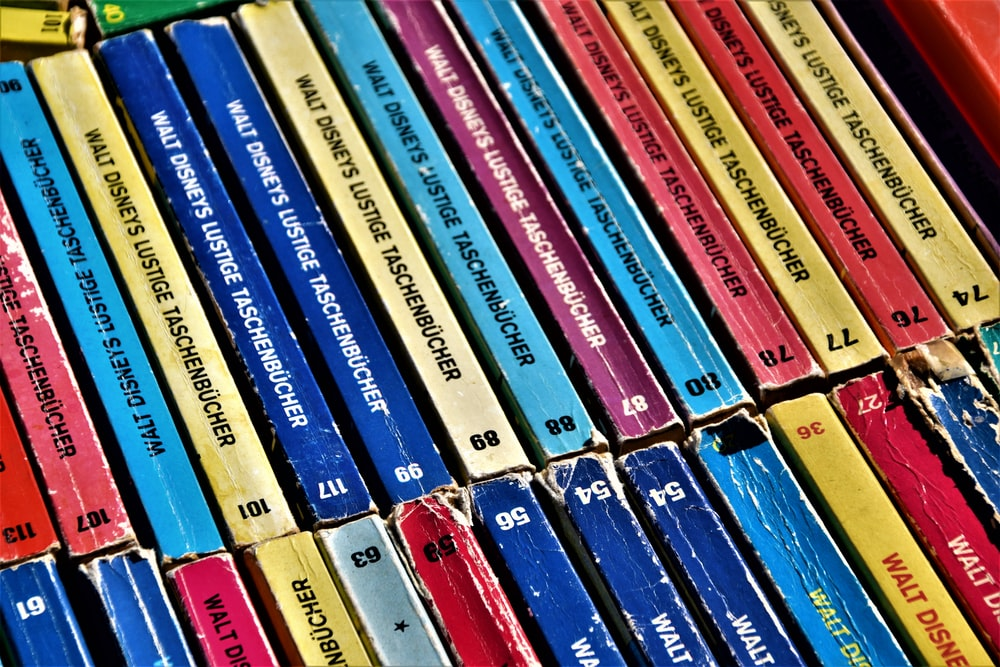 assorted-title cassette tapes