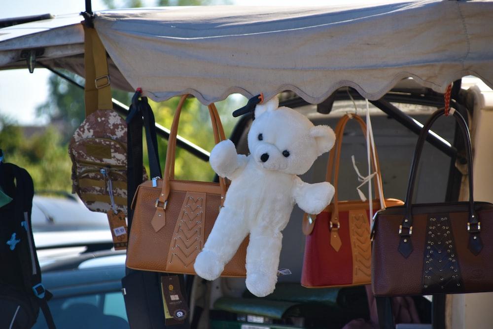hanged bear plush toy