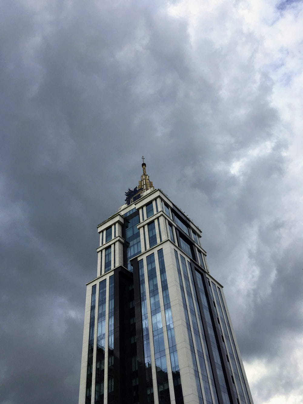 gray and black high-rise building