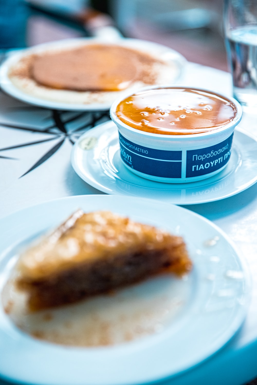 triangular food on plate