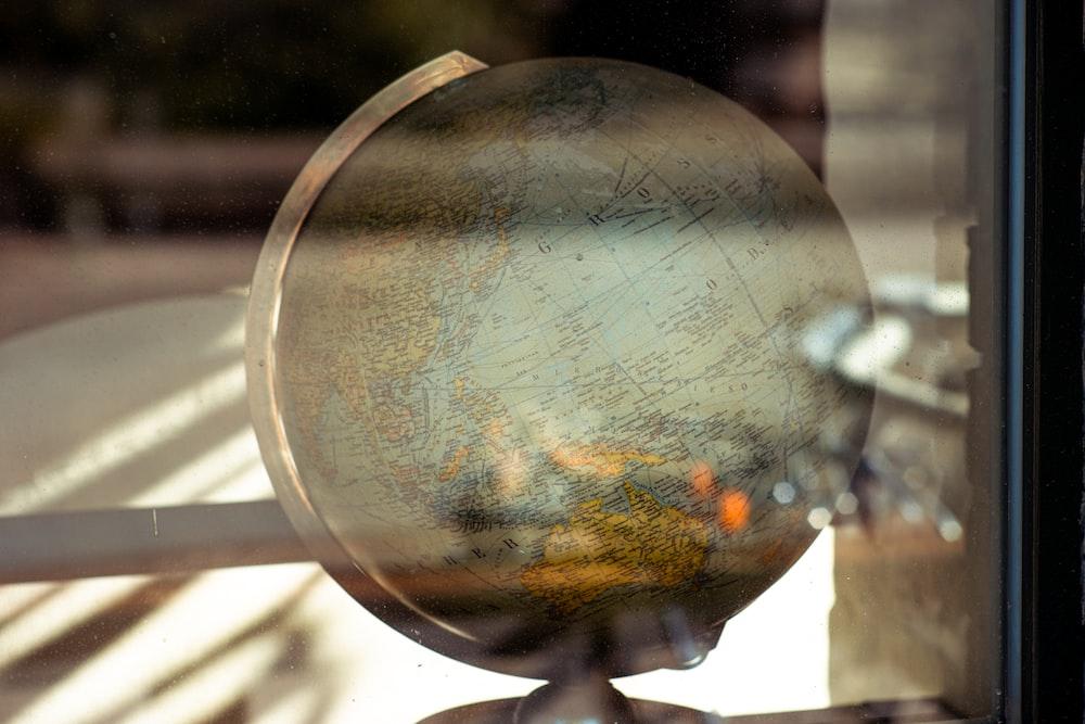 blue desk globe