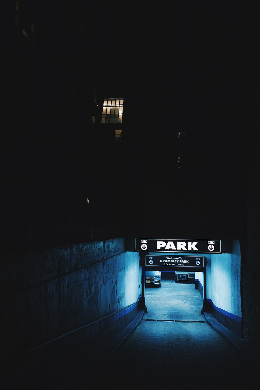 tunnel with park sign