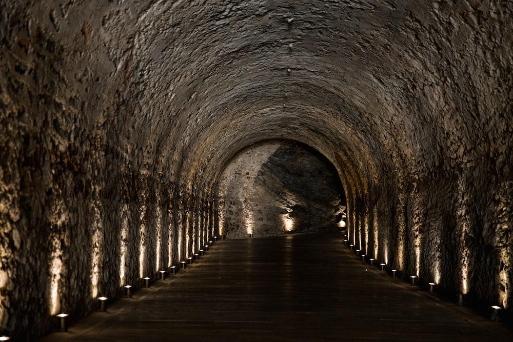 powered-on under tunnel lights