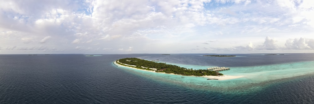 aerial view of island