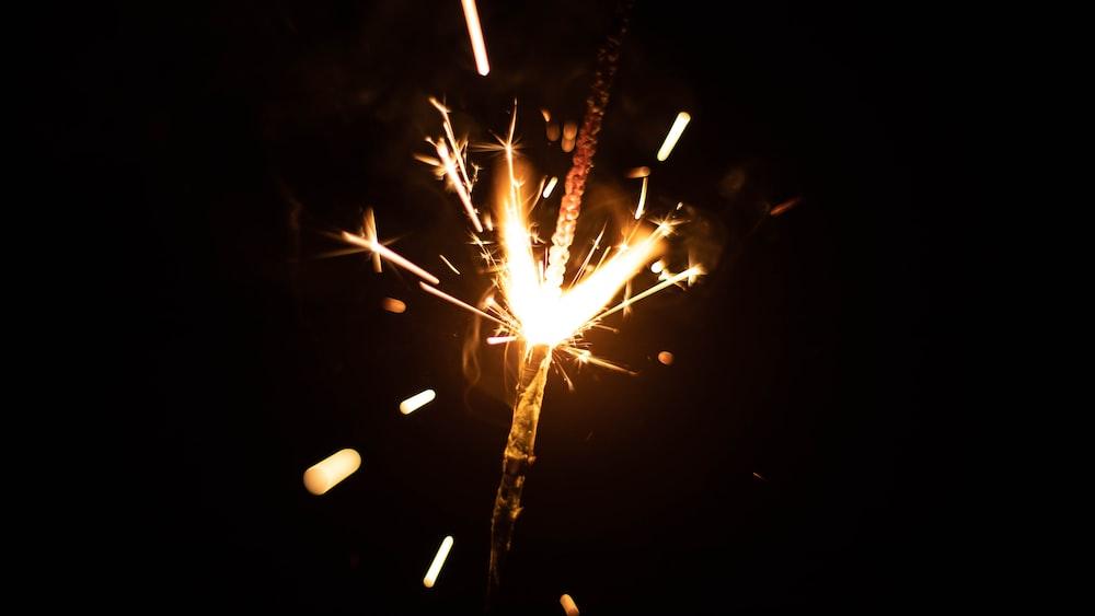 fireworks time lapse photo