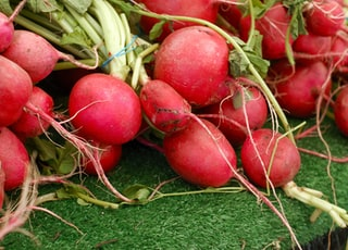 bunch of red vegetables