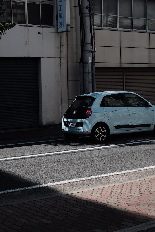 blue 5-door hatchback