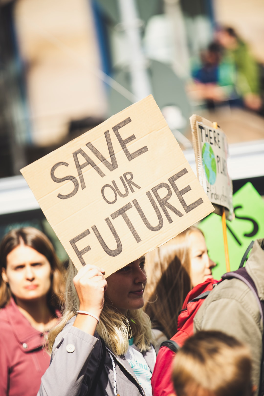 SAVE OUR FUTURE. Global climate change strike - No Planet B - 09-20-2019