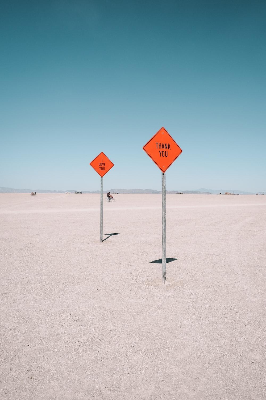 orange signage