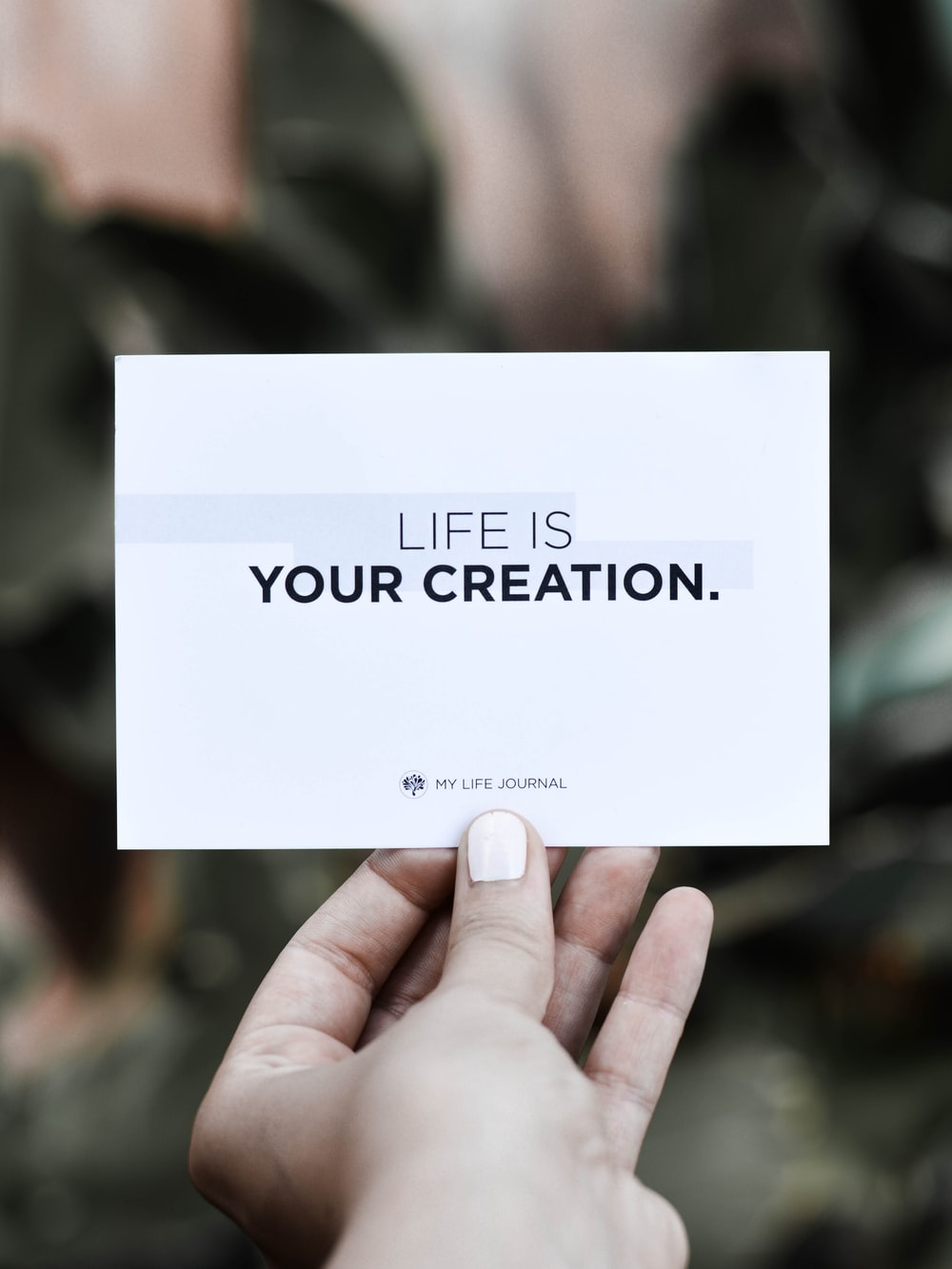 life is your creation card