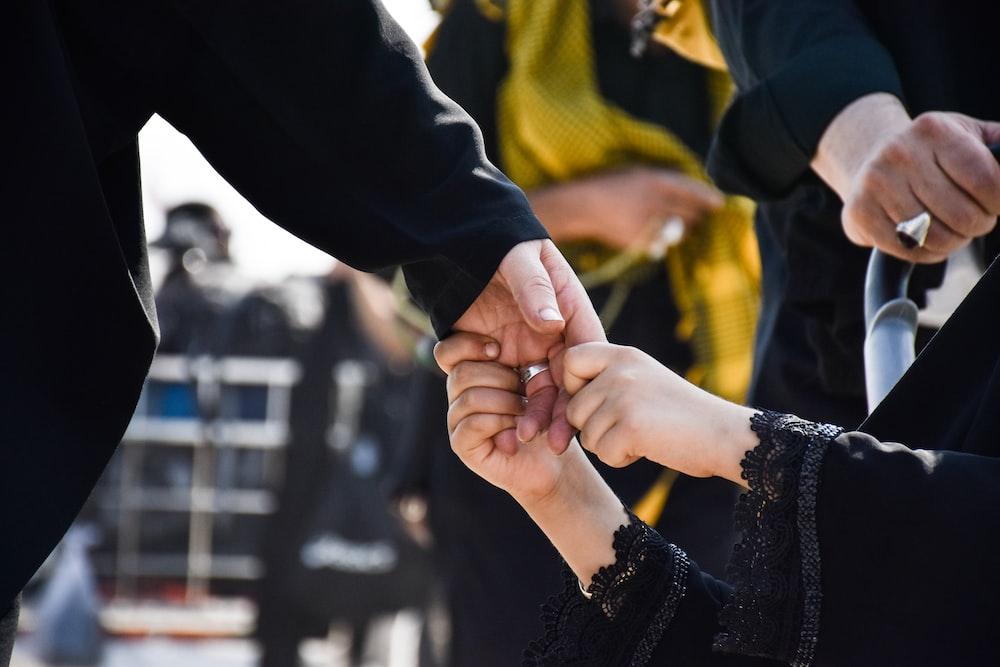 girl's hand holding