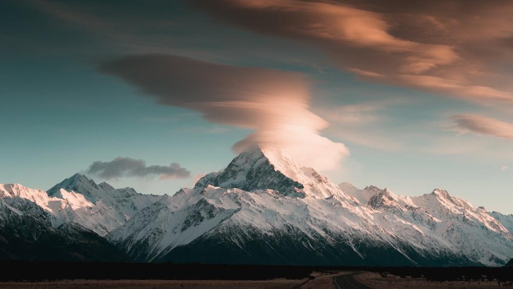 gray mountain under blue sky
