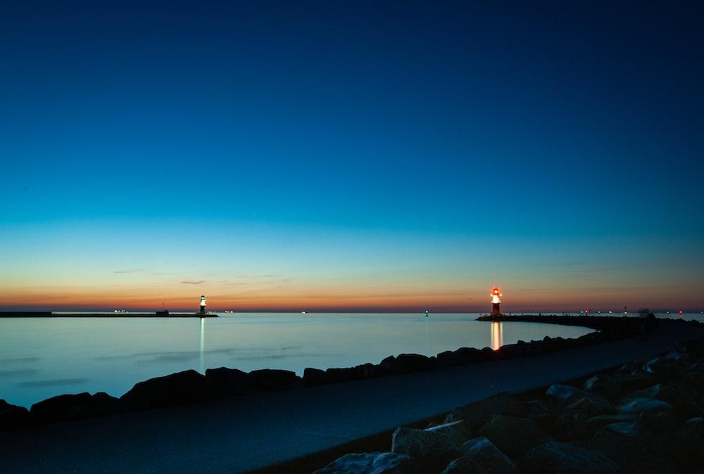 lighthouse under golden hour
