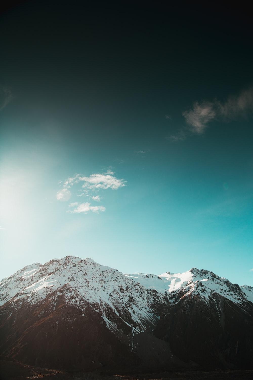 white and black mountains
