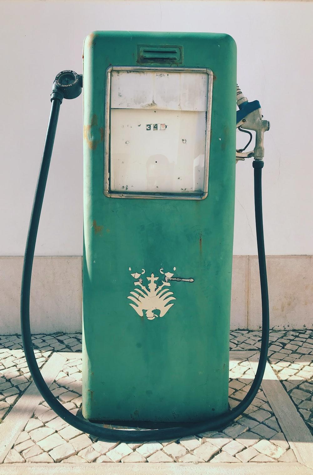 green gasoline pump