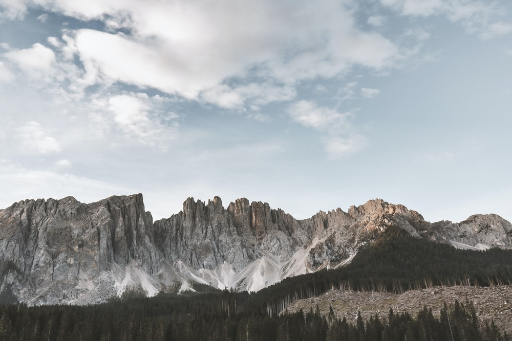 landscape photography of gray and brown mountain