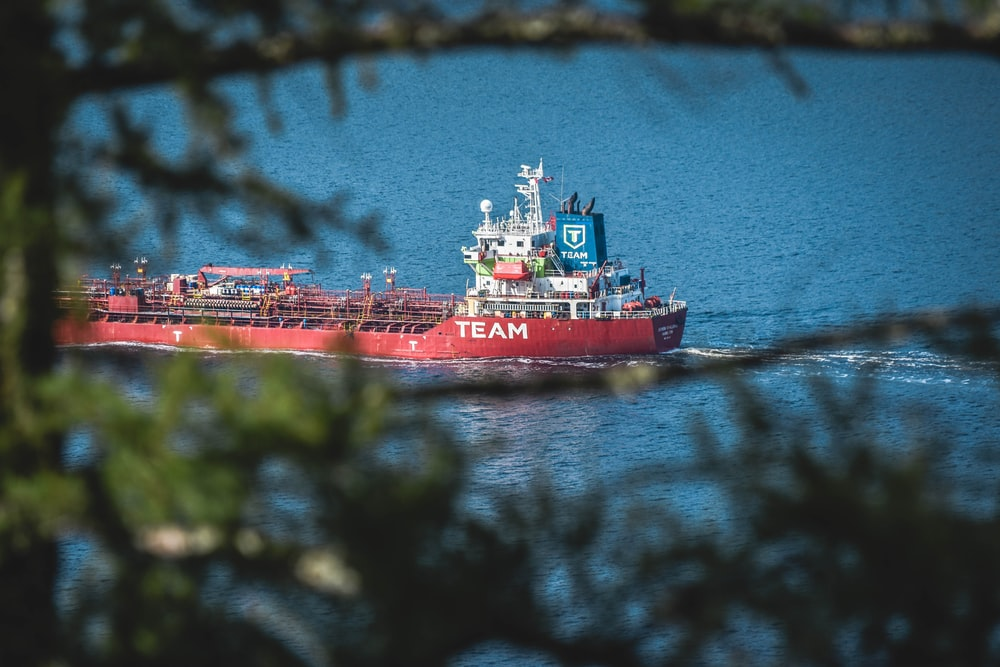 red Team cargo chip in body of water