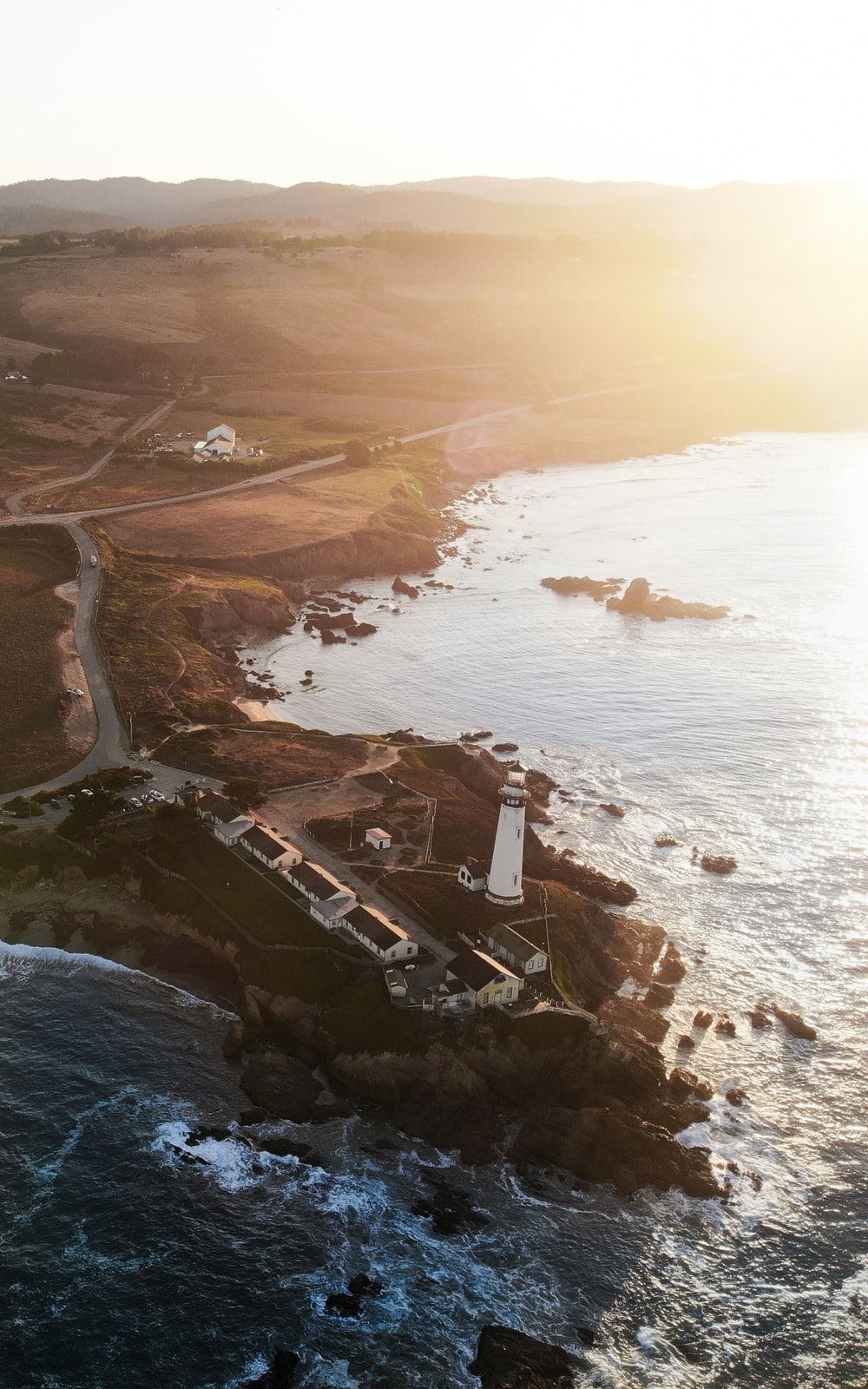 aerial photography of lighthouse