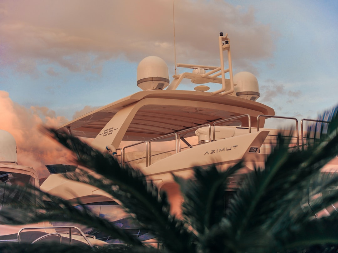 Luxury yacht in the bay