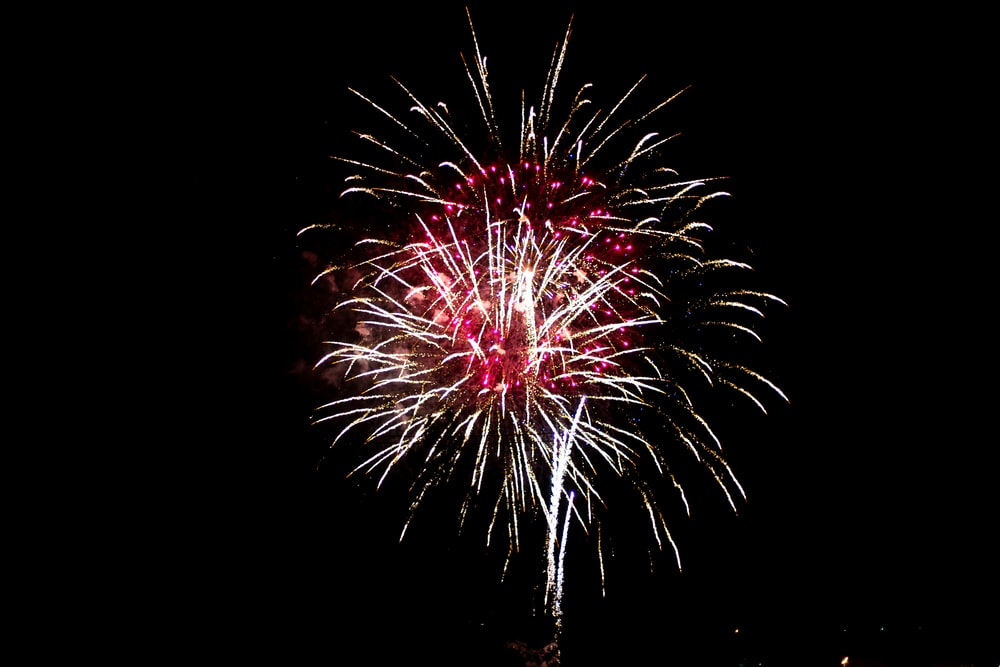red and white fireworks