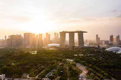 marina bay sands hotel during daytime singapore zoom background