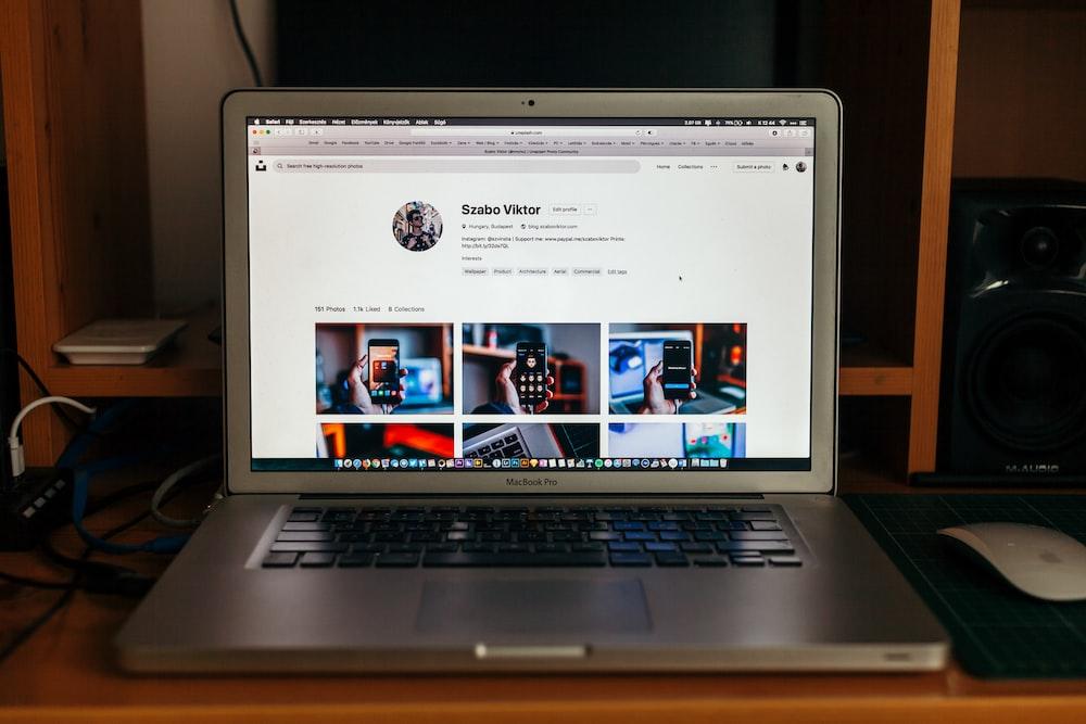 turned-on MacBook Air