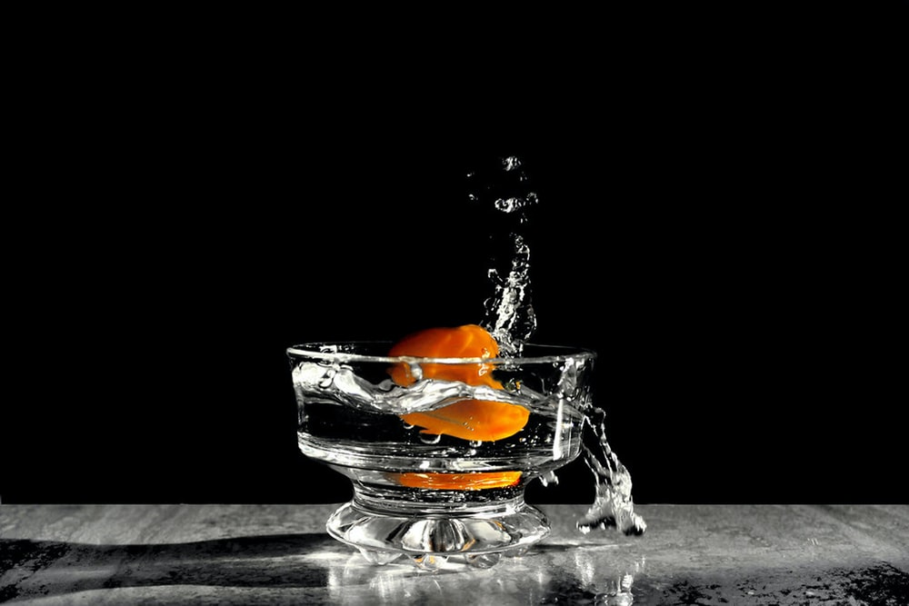 orange in drink