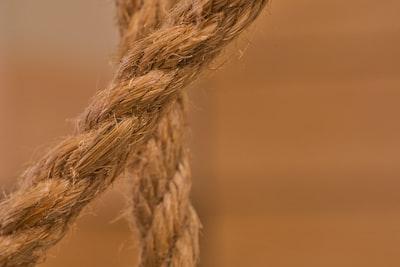 brown braided rope