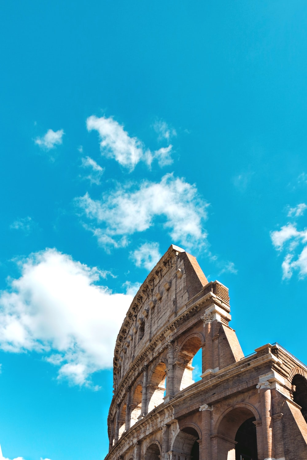 low-angle photography of The Colosseum during daytime