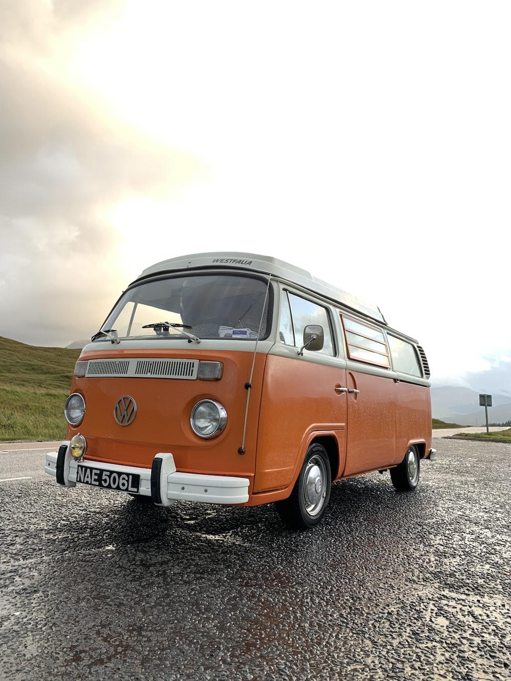 orange Volkswagen T2