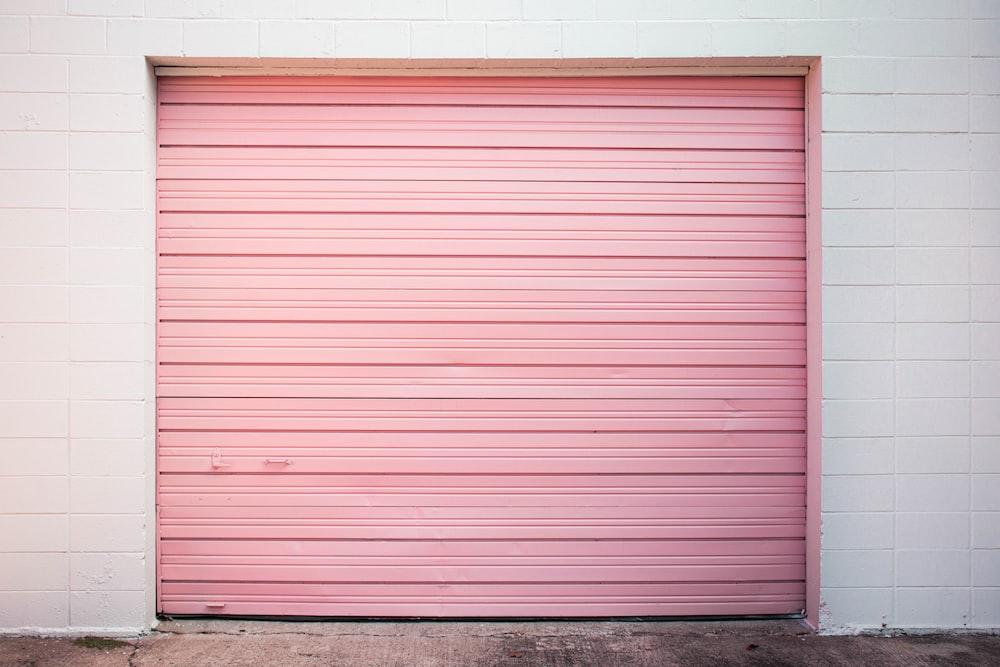 pink rolling door