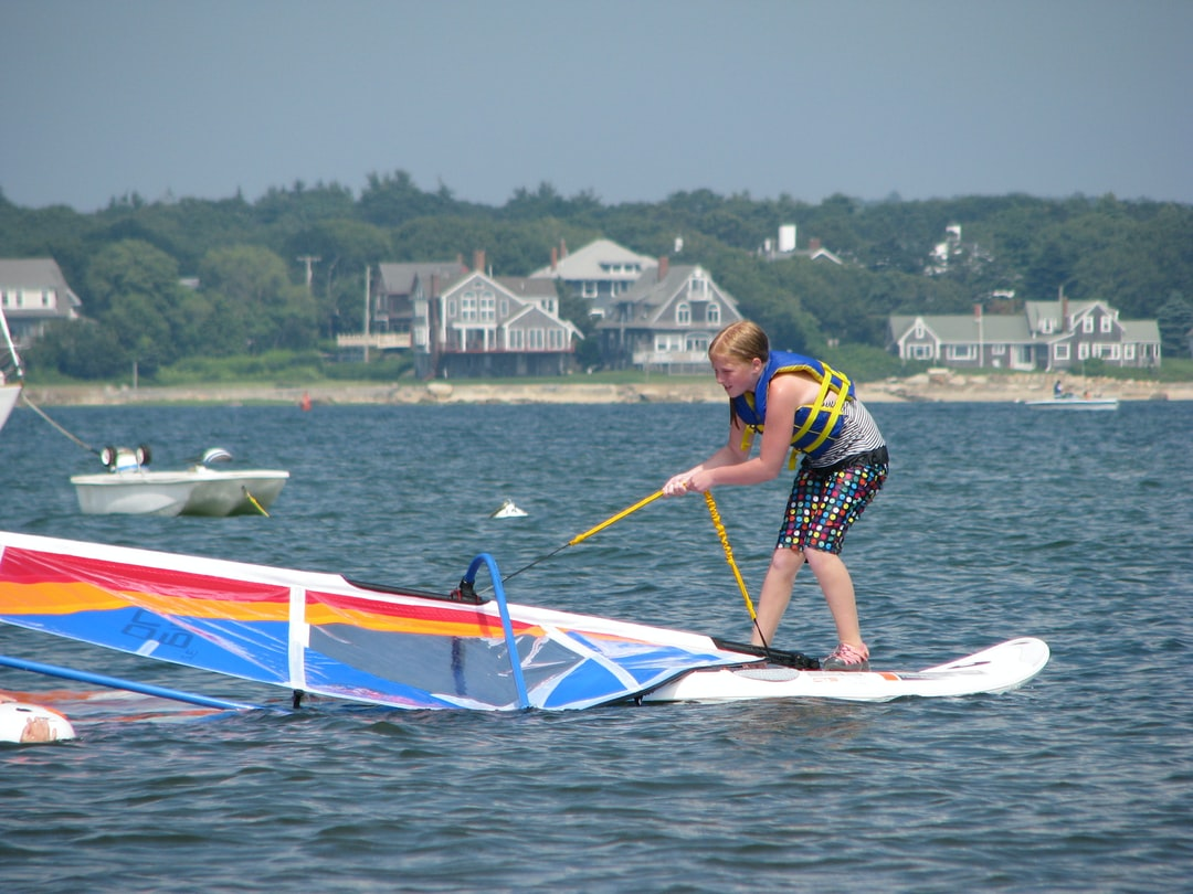 Determination - my daughter learning to windsurf.