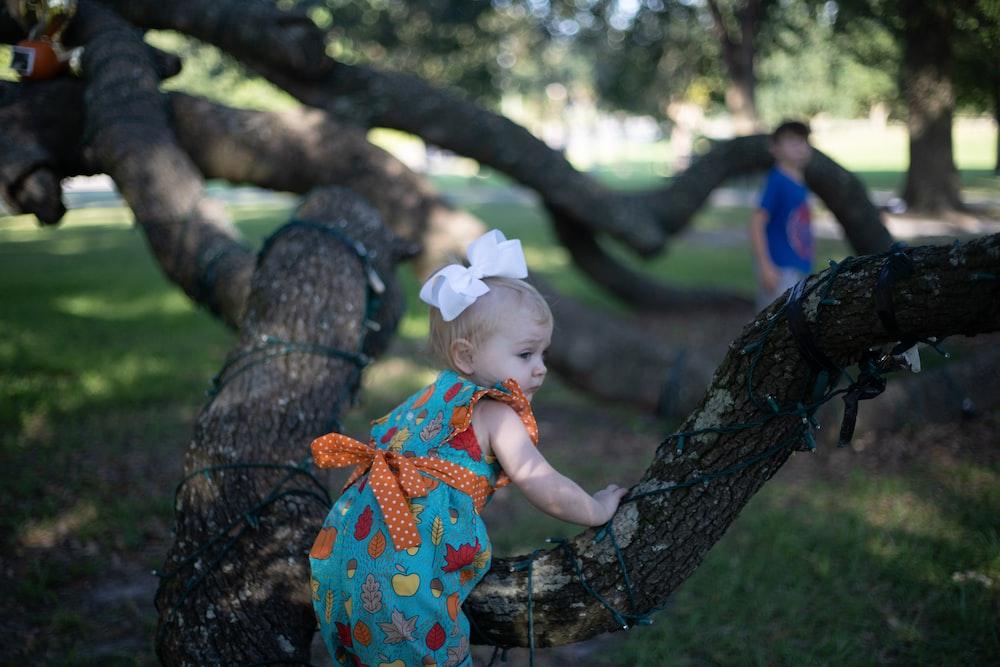 baby on tree