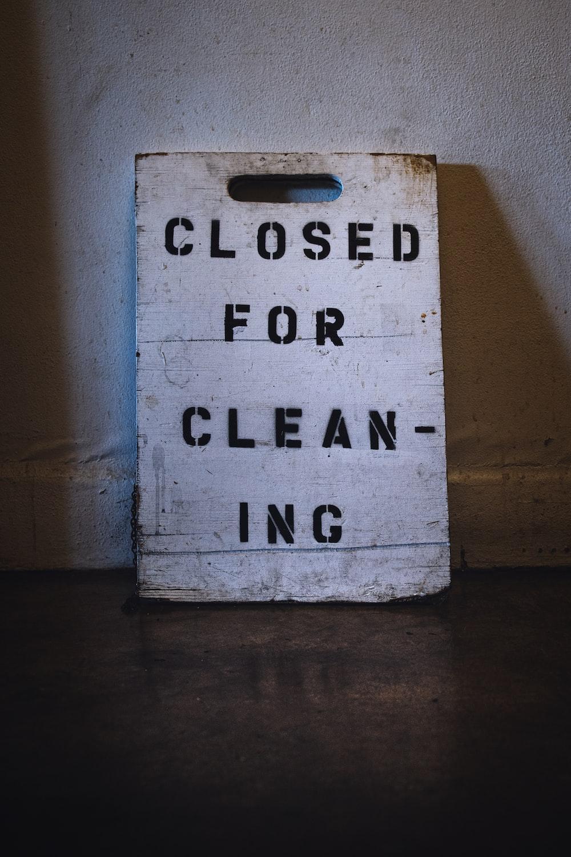 white chopping board signage