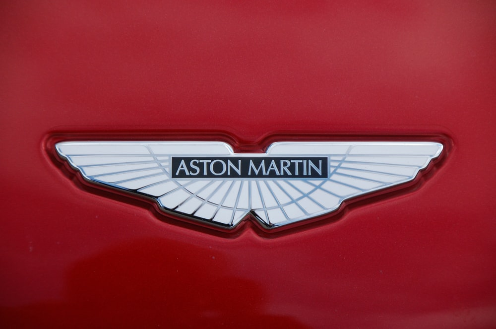 Aston Martin logo in close-up photo