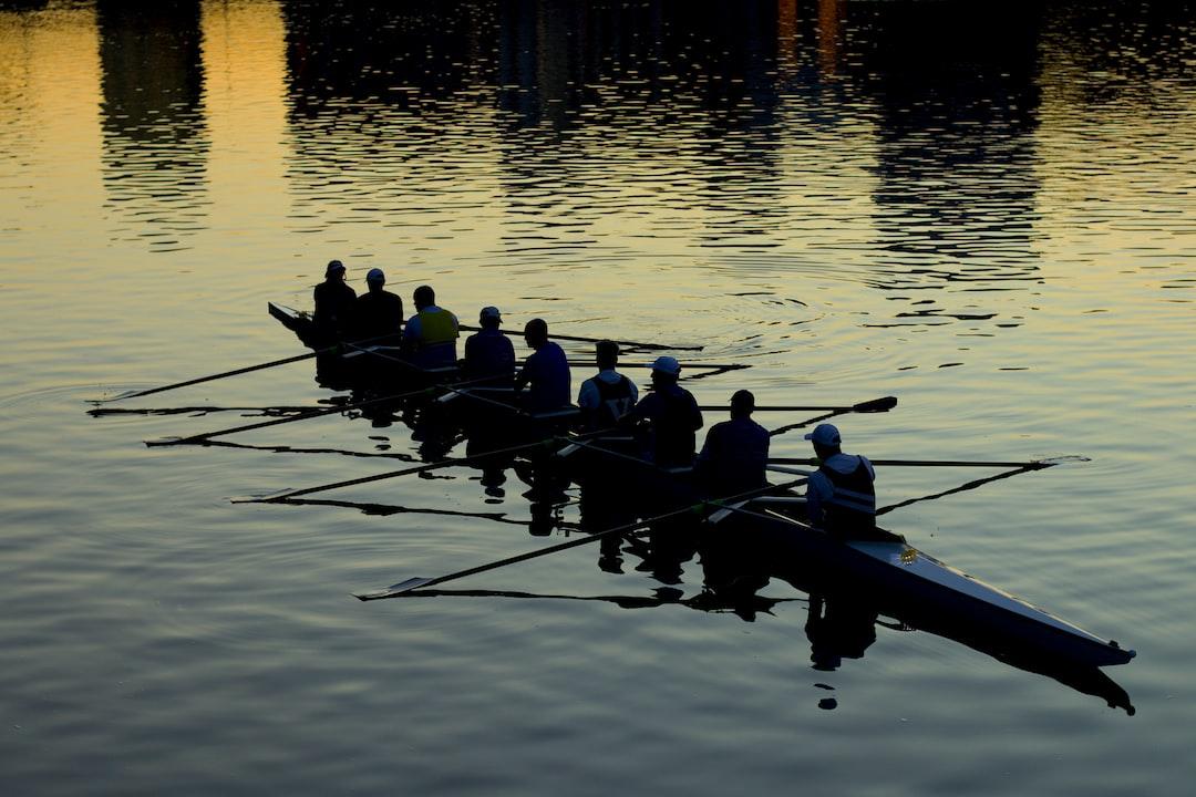 Rowing boat in Yarra River near Southbank, Melbourne