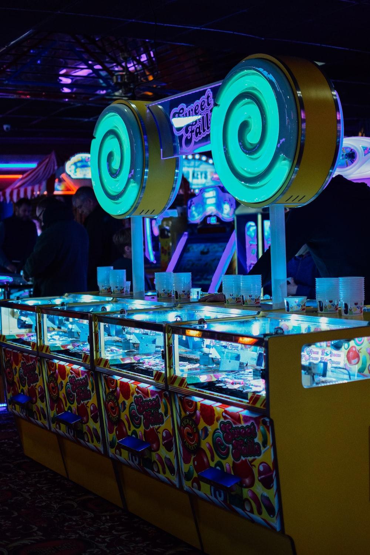 yellow arcade machine