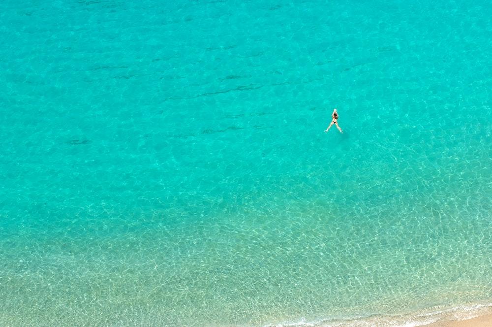 person on shore