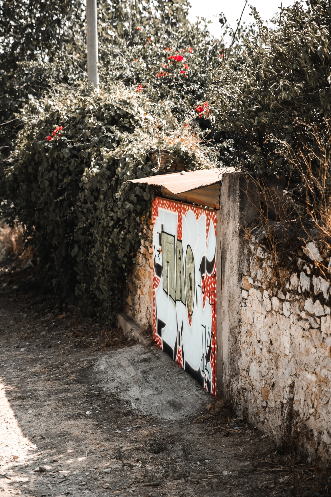 A random back alley in Athens, Greece i stumbled upon an old brick wall graffiti'd up. Definitely worth the snap!  Shot & Edited By @VisualsByRoyalZ