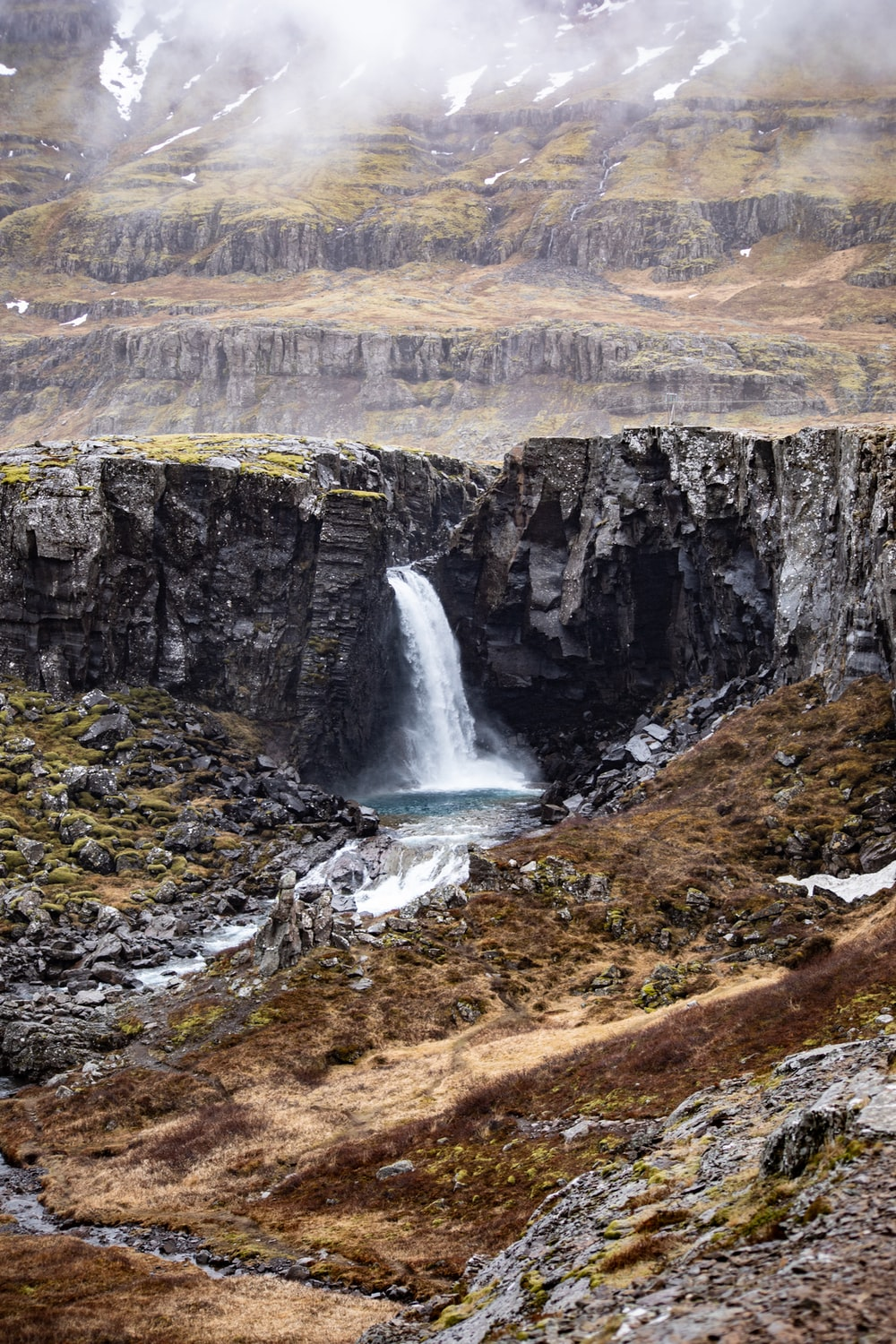 water falls in Iceland in nature photography