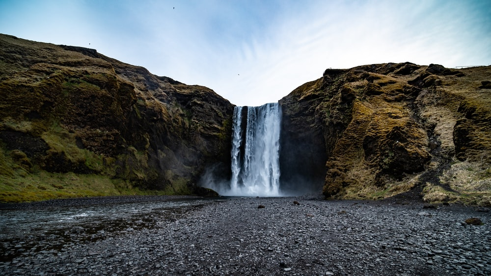 Skogafoss in Iceland during daytime
