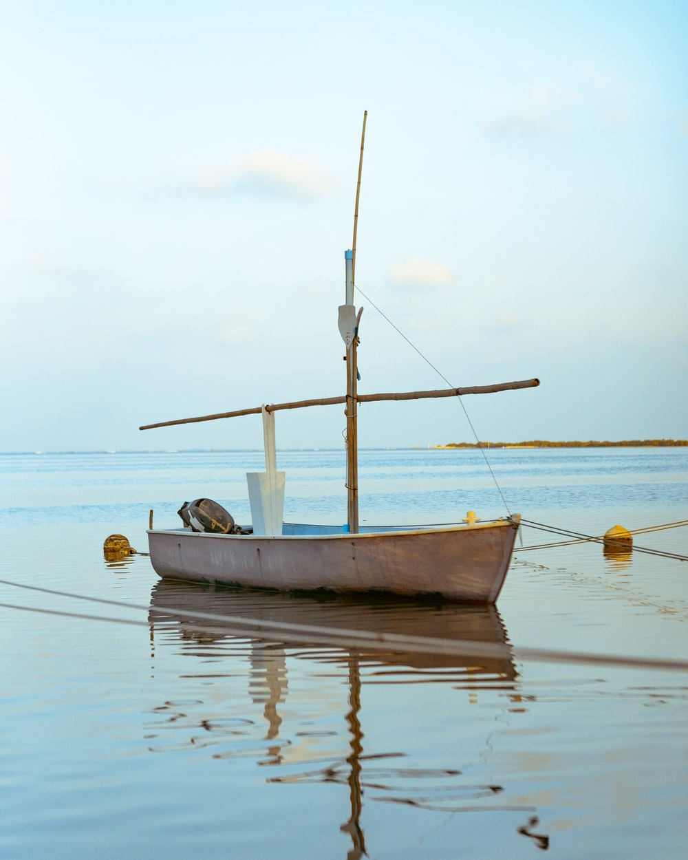 empty boat floating on water