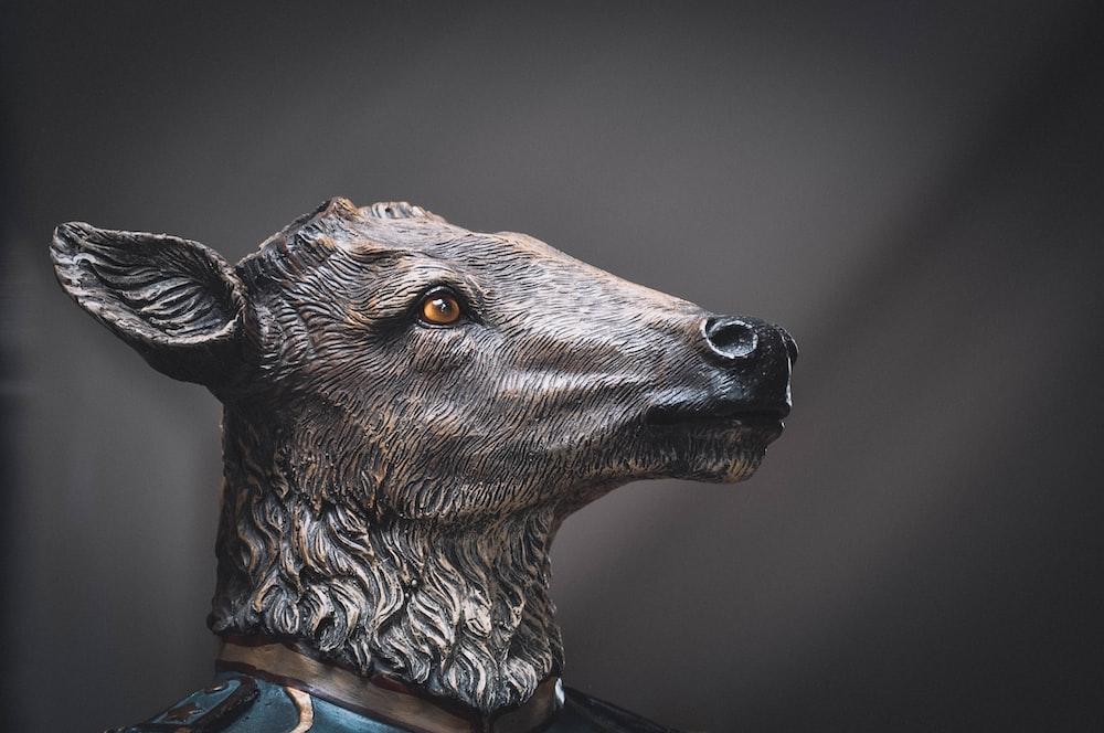 brown deer headbust