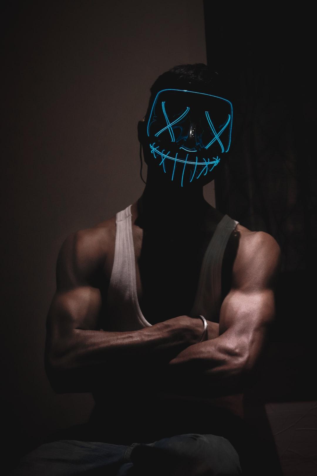 Halloween Purge Neon LED Mask