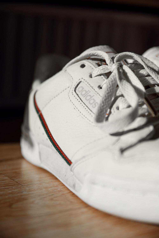 white Adidas low-top sneaker