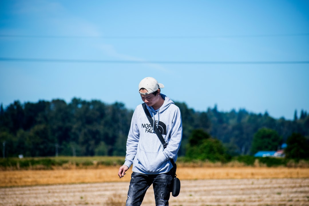 Portrait shot out in the fields of Seattle