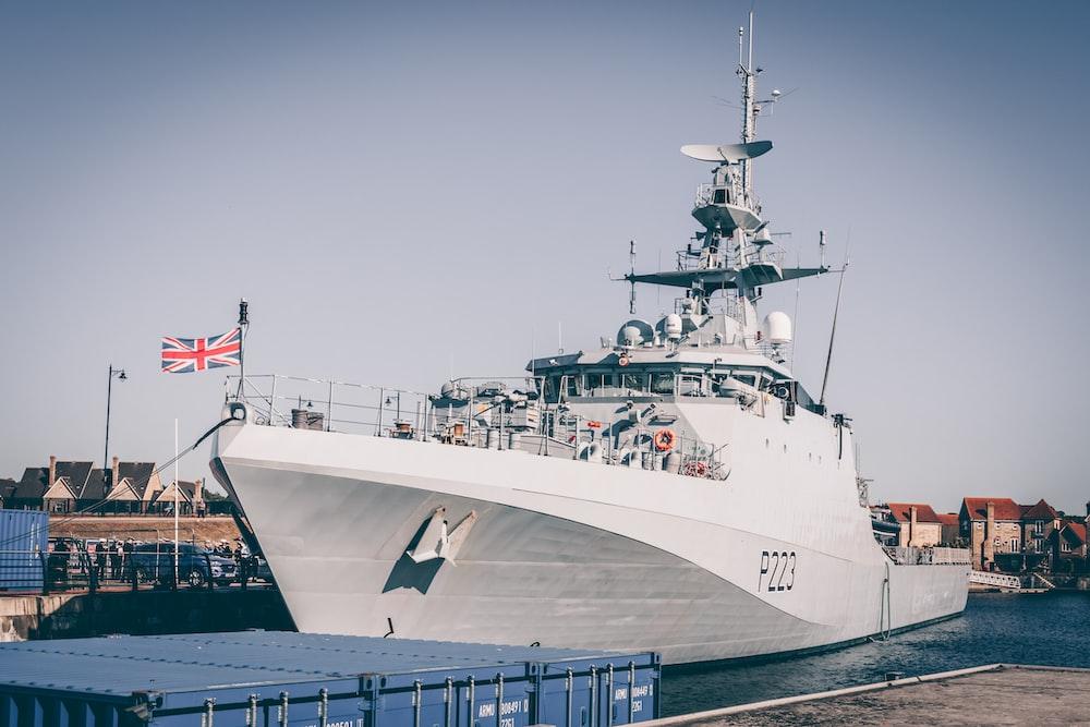 white war ship