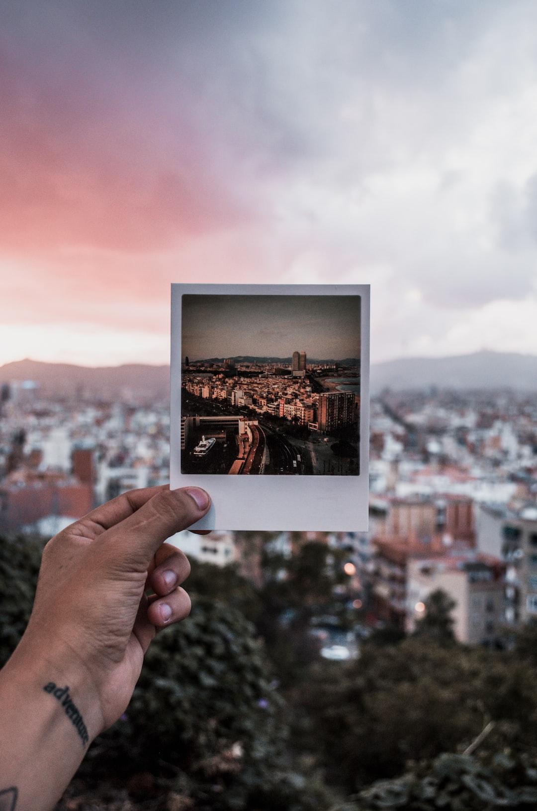 Polaroid of Barcelona