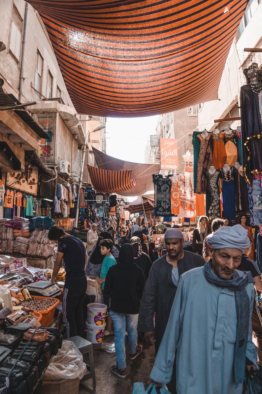 people between vendors