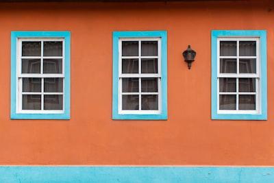 orange concrete building colonial zoom background